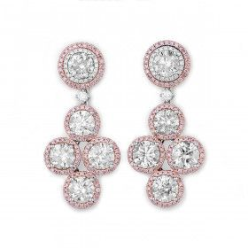 White Diamond Earrings, 9.35 Ct. (10.71 Ct. TW), Round shape, EG_Lab Certified, J5826145738