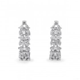 White Diamond Earrings, 6.75 Ct. (9.08 Ct. TW), Round shape, EG_Lab Certified, J5926220127