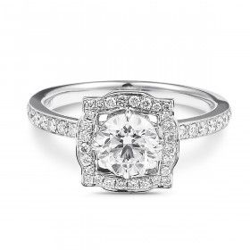 White Diamond Ring, 0.91 Ct. (1.42 Ct. TW), IGI Certified, F1R24094