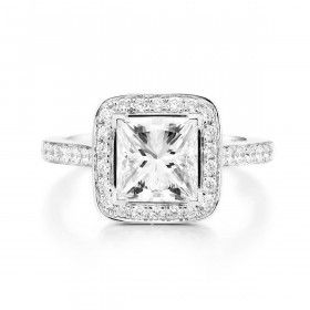 White Diamond Ring, 2.00 Ct. (2.35 Ct. TW), Princess shape, GIA Certified, 6272602018