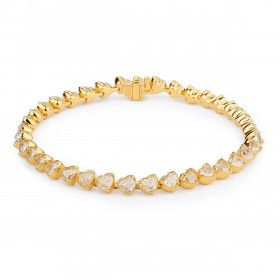 Fancy Yellow Diamond Bracelet, 14.67 Carat, Heart shape, EG_Lab Certified, J5826064839