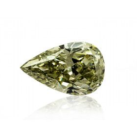 3.43 Carat, Fancy Grayish Green Diamond, Pear shape, SI2 Clarity, GIA Certified, 15286245