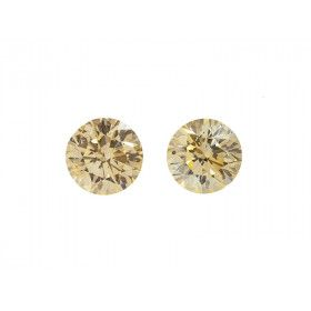 1.00 Carat, Fancy Light Orangy Yellow Diamond, Round shape, SI1 Clarity, GIA Certified, 1132103463