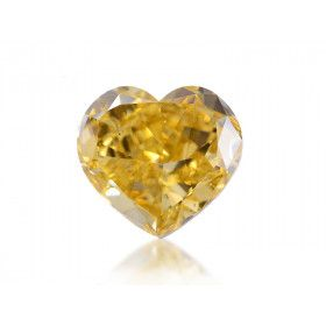 10.88 Carat, Fancy Deep Brownish Yellow Diamond, Heart shape, SI2 Clarity, GIA Certified, 2135777609
