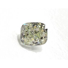 1.50 Carat, Fancy Light Grayish Yellow Diamond, Cushion Modified shape, VS2 Clarity, GIA Certified, 1152826515