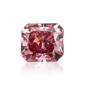1.04 Carat, Fancy Vivid Pink Diamond, Radiant shape, SI2 Clarity, GIA Certified