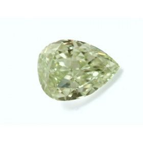 1.07 Carat, Fancy Light Yellowish Green Diamond, Pear shape, SI1 Clarity, GIA Certified, 2131614093