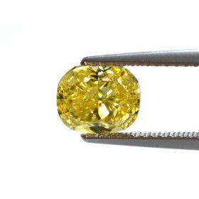 1.51 Carat, Fancy Vivid Yellow Diamond, Oval shape, VS2 Clarity, GIA Certified, 5151282574