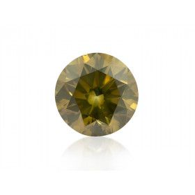3.95 Carat, Fancy Deep Brownish Greenish Yellow Diamond, Round shape, GIA Certified, 6157317371
