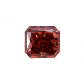 1.01 Carat, Fancy Deep Orangy Pink Diamond, Radiant shape, VS2 Clarity, GIA Certified, 6177252752
