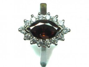 1.03 Carat, Fancy Deep Reddish Brown Diamond, Marquise shape, SI1 Clarity, IGI Certified, F4B41384
