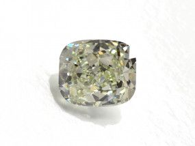1.50 Carat, Fancy Light Grayish Yellow Diamond, Cushion shape, VS2 Clarity, GIA Certified, 1152826515