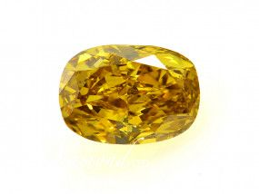 2.51 Carat, Fancy Deep Yellow Diamond, Cushion shape, SI2 Clarity, GIA Certified, 1142352961
