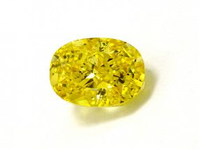 1.39 Carat, Fancy Vivid Yellow Diamond, Oval shape, VS1 Clarity, GIA Certified, 14867811
