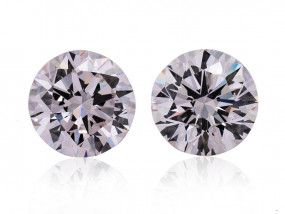 1.04 Carat, Faint Pink Diamond, Round shape, VS2 Clarity, GIA Certified, 2155471645