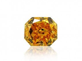 0.72 Carat, Fancy Vivid Yellow Diamond, Radiant shape, VS2 Clarity, GIA Certified, 2195956733