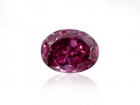 0.28 Carat, Fancy Purplish Red Diamond, Oval shape, SI2 Clarity, GIA Certified, 6217042866