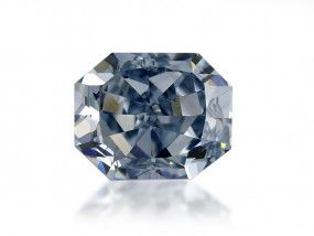 0.76 Carat, Fancy Intense Blue Diamond, Radiant shape, VS1 Clarity, GIA Certified, 2205812081