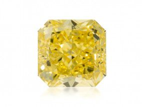 6.22 Carat, Fancy Vivid Yellow Diamond, Radiant shape, VS2 Clarity, GIA Certified, 1206124123