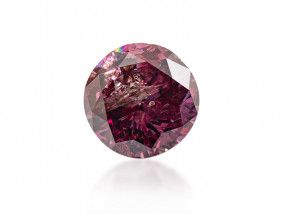 0.36 Carat, Fancy Deep Purplish Pink Diamond, Round shape, GIA Certified, 5192204874