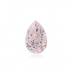 0.56 Carat, Very Light Pink Diamond, Pear shape, SI2 Clarity, GIA Certified, 6345048750