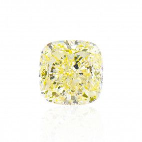 3.04 Carat, Fancy Light Yellow Diamond, Cushion shape, VS2 Clarity, GIA Certified, 2203760244