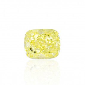 10.03 Carat, Fancy Yellow Diamond, Cushion shape, VS2 Clarity, GIA Certified, 6217095125