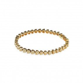 Fancy Yellow Diamond Bracelet, 11.55 Carat, Heart shape