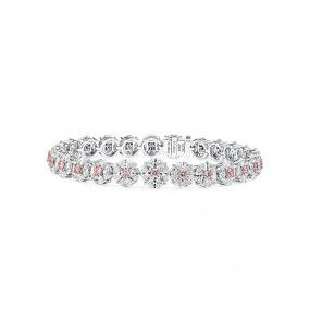 Fancy Pink Diamond Bracelet, 1.34 Ct. (10.83 Ct. TW), Mix shape