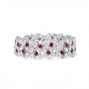 Natural Vivid Red Ruby Bracelet, 7.08 Ct. (31.54 Ct. TW), Unheated
