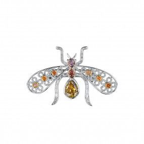 Fancy Deep Brown Pink Diamond Brooch, 2.66 Ct. (4.46 Ct. TW), Mix shape, GIA Certified, JCBRF05461549