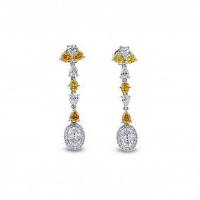 Fancy Mix Diamond Earrings, 2.73 Ct. (2.93 Ct. TW), Mix shape, EG_Lab Certified, J5926218538