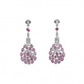Fancy Pink Diamond Earrings, 7.38 Ct. (10.78 Ct. TW), Mix shape, EG_Lab Certified, 5926220329