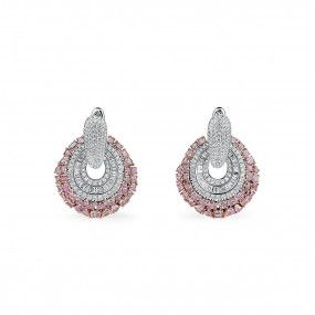 Fancy Pink Diamond Earrings, 7.88 Ct. (12.82 Ct. TW), Mix shape, EG_Lab Certified, J5926219236