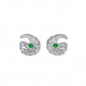 Natural Green Emerald Earrings, 1.23 Ct. (3.54 Ct. TW)