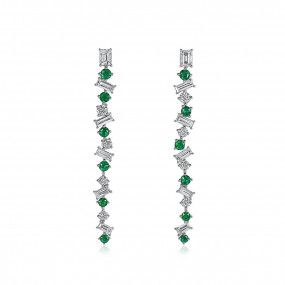 Natural Green Emerald Earrings, 0.66 Ct. (2.27 Ct. TW)