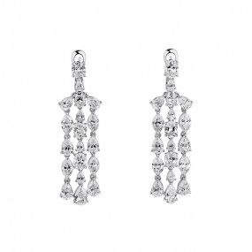 White Diamond Earrings, 11.37 Carat, Mix shape, EG_Lab Certified, J5926170535