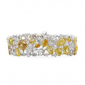Fancy Mix Diamond Bracelet, 31.87 Ct. (32.31 Ct. TW), Mix shape