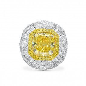 Fancy Yellow Diamond Ring, 8.88 Ct. (13.15 Ct. TW), Radiant shape, GIA Certified, 2185832862