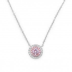 Fancy Light Pink Diamond Necklace, 0.20 Ct. (0.35 Ct. TW), Round shape, ARGYLE Certified, 5191424280
