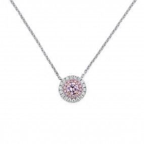 Fancy Light Pink Diamond Necklace, 0.22 Ct. (0.36 Ct. TW), Round shape, ARGYLE Certified, 2195424477