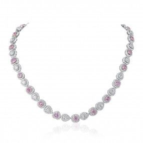 Fancy Pink Diamond Necklace, 8.24 Ct. (14.53 Ct. TW), Mix shape, GIA Certified, JCNF05476601
