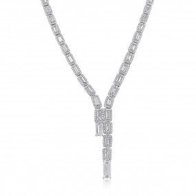 White Diamond Necklace, 3.26 Ct. (19.89 Ct. TW), Radiant shape, GIA Certified, JCNW05479410