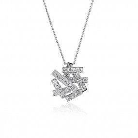 White Diamond Necklace, 2.21 Carat