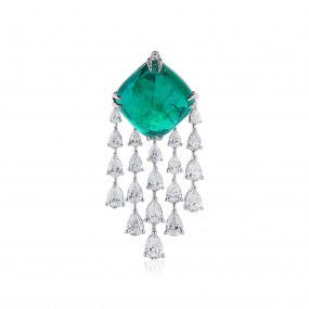 Natural Vivid Green Emerald Necklace, 16.80 Ct. (20.45 Ct. TW)