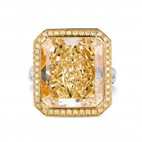 Fancy Yellow Diamond Ring, 18.64 Ct. (20.74 Ct. TW), Radiant shape, GIA Certified, 5172571318
