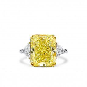 Fancy Light Yellow Diamond Ring, 9.05 Ct. (9.72 Ct. TW), Radiant shape, GIA Certified, 2191389105