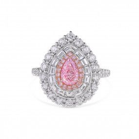 Light Pink Diamond Ring, 0.70 Ct. (2.50 Ct. TW), Pear shape, GIA Certified, 1328958587