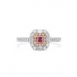 Fancy Purple Pink Diamond Ring, 0.16 Ct. (0.66 Ct. TW), Radiant shape, GIA Certified, 2205764053