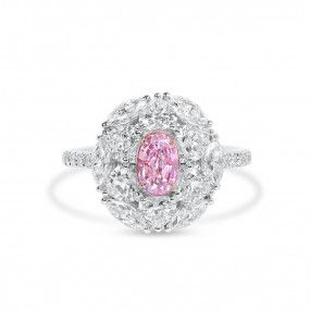 Very Light Pink Diamond Ring, 0.51 Ct. (2.72 Ct. TW), Oval shape, GIA Certified, 5171447451